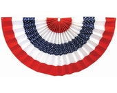 Miniature Patriotic Flag Bunting Stars and Stripes for 1:12 Scale Porch or Balcony