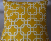 Yellow and White Premier Prints Gotcha pillow covers