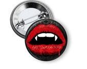 "Vamp Lips 1"" Pinback Button"