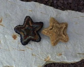 PRiMiTiVe Pair of HaND HooKeD Rug StaRs Rustic Chic WooL FAAP OFG