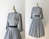 1950s New Look Dress /  40s 50s Gray Jonathan Logan Dress