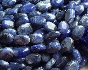 Sodalite Beads - Light Blue Sodalite Plain Oval Beads, Blue Sodalite Gemstones, Nugget Beads, 9x7mm 13 Inch Full Strand, 35 Pieces