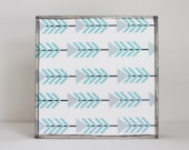 kid room decor - arrow pattern 5x5- gender neutral baby decor- southwestern art for nursery- decor for babies room- art block