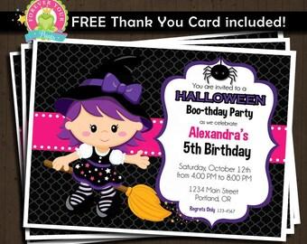 Halloween Birthday Invitation / Printable Halloween Invitation / Halloween Invitation / Halloween Party / Halloween Party Invitation
