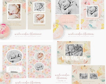 Watercolor Blossom 5x7 Whcc Cards (DOWNLOAD)
