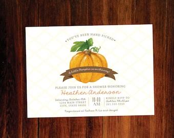 Little Pumpkin Baby shower invitation - set of 15