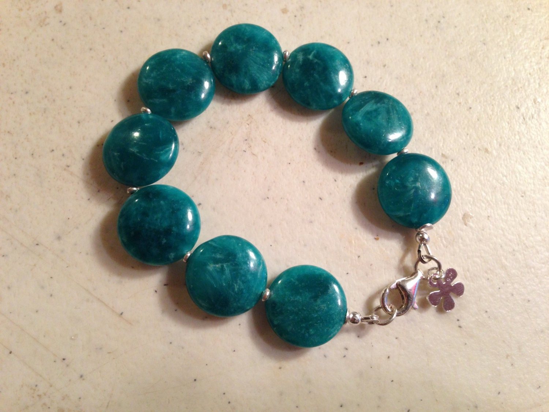 teal bracelet sterling silver jewelry agate gemstone