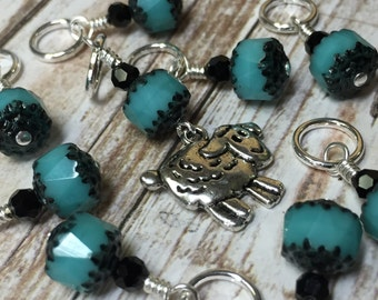 Sheep Stitch Marker Set- Snag Free Beaded Knitting Markers- Gift for Knitters