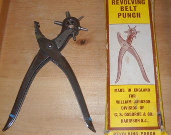 Revolving Belt Punch - Made in England - No. J-229 - FREE SHIPPING!
