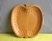 Vintage Wooden Tray Apple Design