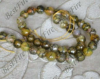 Single 10mm Faceted agate round stone beads, gemstone Beads ,agate stone beads loose strands,agate beads findings