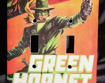Green Hornet Resin Switchplate Double Wall Plate Light Cover DC Comic Book Super Hero Kado