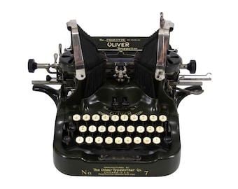 Oliver No. 7 Printype Typewriter in Excellent Working Order with New Ribbon - FREE Domestic Shipping