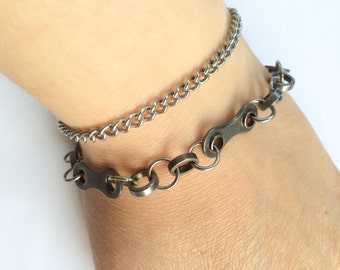 bicycle chain jewelry cycling bracelet and stainless steel, bike bracelet, bicyclette bracelet, bicycle part jewelry, cycling bracelets