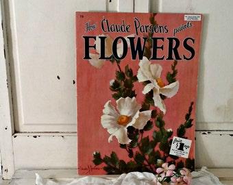 Vintage Painting Book | How Claude Parsons Paints Flowers