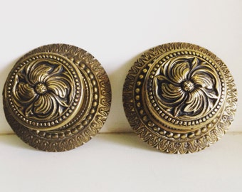 Vintage Solid Brass Lou Ehrich Handles/Knobs