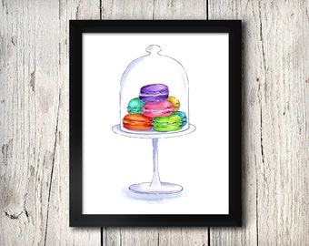 Macarons - A3 Art Print