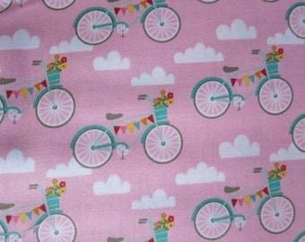 Riley Blake Fancy Bikes - C4061 - Pink