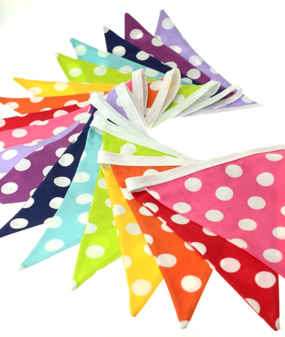 polka dot party flags - photo #28