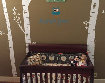 Owls, Crib Bedding, Baby Bedding, Toddler Bedding, Boy, Girl, Adorn It Nested Owls, Sheet & Case,, Crib Skirt, Crib Sheet, Bumper Pads