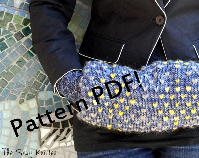 Muffalette Thrummed Handwarmer: PDF Knitting Pattern by The Sexy Knitter