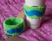 Knitted Cup Cozy - Dapper Stache