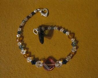 Swarovski crystal & sterling bracelet