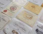 15 Vintage French Wine Labels  Not Reprints