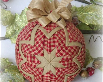 Quilted Christmas Ornament fabric country traditional