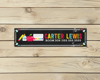 Name Labels for School Supplies - Name Labels for School - Personalized Name Labels - Printable Name Labels for Kids - Custom Name Labels