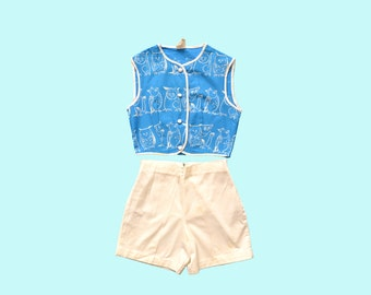 1950s Childs Owl Play Suit Set