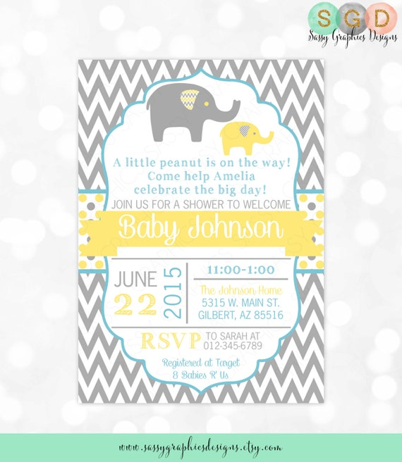 Boy baby shower invitation baby boy invitation grey yellow blue il570xn filmwisefo
