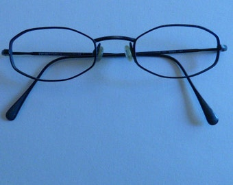 Vintage Armani Black Wire RIm Eyeware- late 80s early 90s- Emporio Armani Made in Italy
