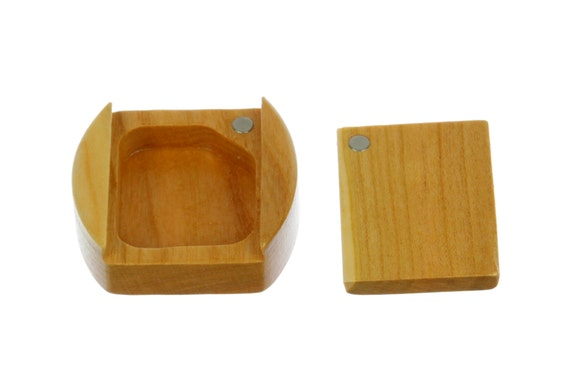 DISCONTINUED - REDUCED PRICE Bee Laser Engraved Sliding Lid Storage Box, Solid Cherry, Mini Box Pattern Ms21, Paul Szewc