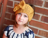 Head Wrap | Ear warmer | Turban | Earwarmer | Bow Headband | Button and Bow Head Band | Fall Fashion | Warm Headwrap | Back to School Style