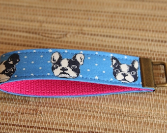 French Bulldog Key Chain (Key Fob, Wristlet, Keychain)