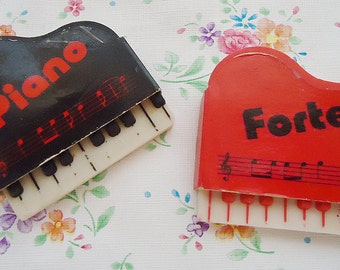 Two Japanese Piano Erasers.80s