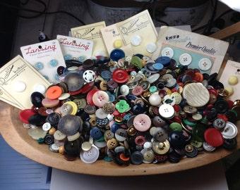 Antique and Vintage Buttons ~ Bakelite Buttons, Celluloid Button, Glass Buttons, MOP Buttons