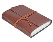 Large Faux Leather Journal, Vegan,  Choice of 9 Colors, Choice of  Lined Paper or Blank Paper, Vegan, Custom, Personalized, Wanderlust