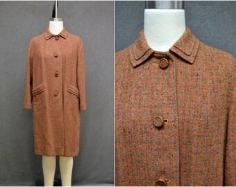1960s Harris Tweed Houndstooth Wool Coat