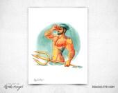 Poseidon - 8x11 Print