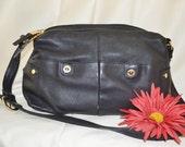 Handbag Purse Pocketbook Black boho paris chic stonemountain