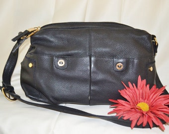 Handbag Purse Pocketbook Black boho paris chic stonemountain