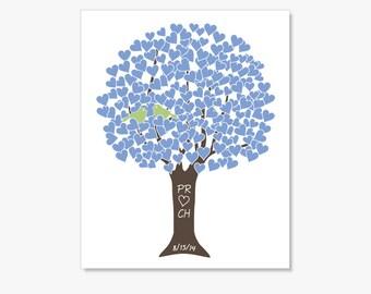 Personalized Anniversary Gift Custom Anniversary Date Wedding Tree Poster Engagement Wedding Anniversary