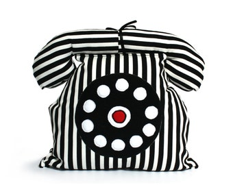 RETRO TELEPHONE - Plushie- Decorative Pillow- Kids Room Accessory - Soft Toy