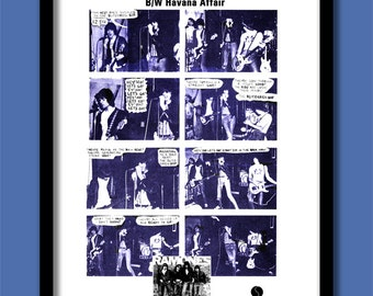 The Ramones Poster. Blitzkrieg Bop Comic Strip Promo  Large  A2 ( 40 x 60 cm) Print