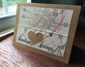 I love Saratoga Springs NY - 1 blank handmade greeting card
