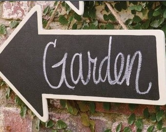 Chalkboard Arrow Sign - Garden - Wedding -