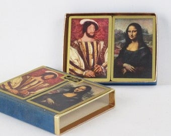 Vintage Playing Cards Unopened Double Deck Bridge Set - Renaissance Paintings Mona Lisa Rembrandt