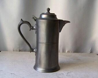 Vintage Petite Pewter Tea Pot Steeping Pot Holds 2 cups Vintage 1980s